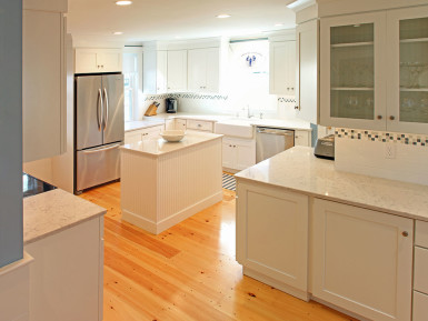 custom kitchen with island